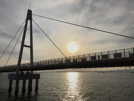 尼崎港の夕日